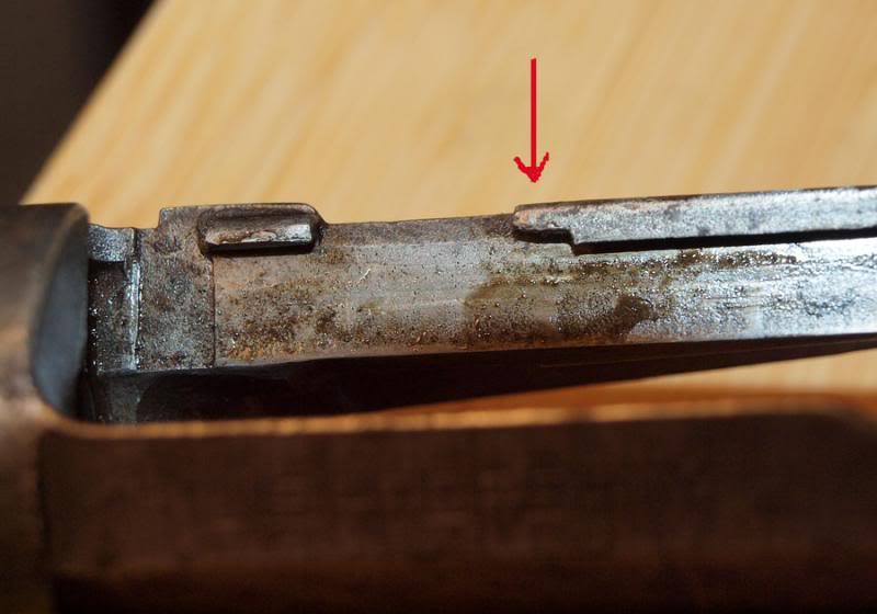 broken bolt guide rail